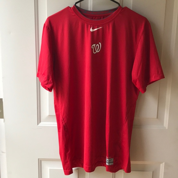 the latest 5fa8c bd58a Nike Pro Combat Washington Nationals Shirt